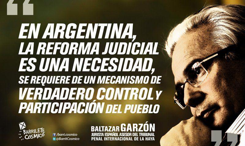 Baltasar Garzón jurista español #Justicia #CorporaciónJudicial #Conservador #ReformaJudicial // #Frases #Citas