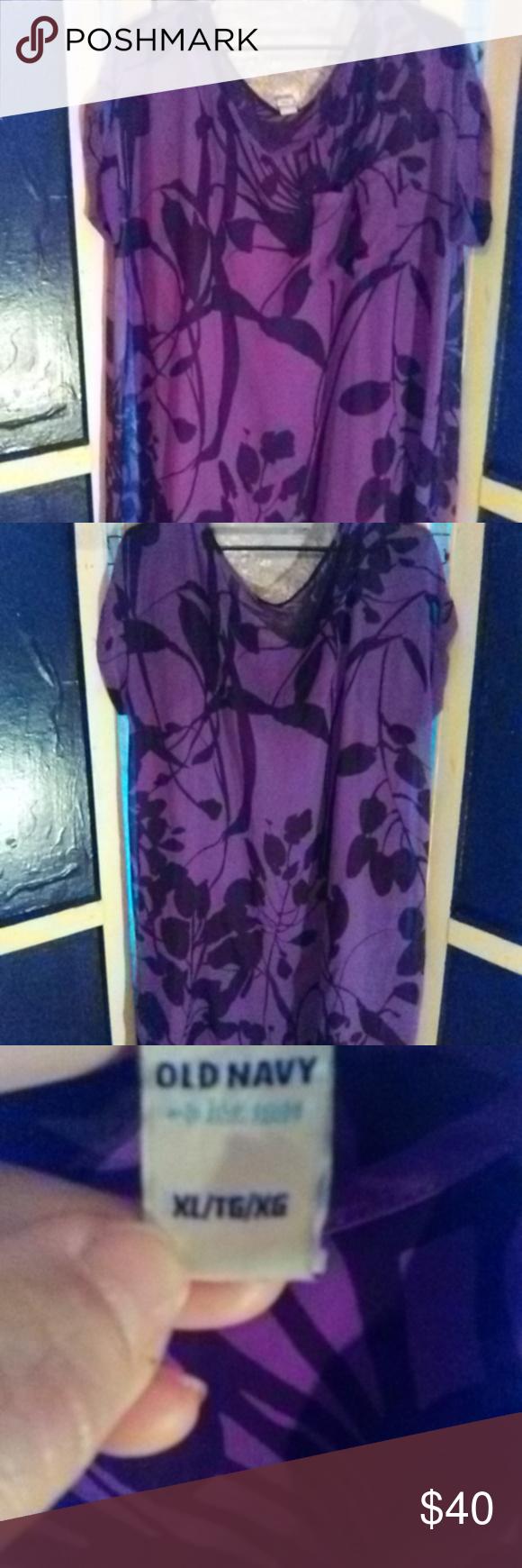 Womens dress purple silk see through short sleeve dress with flower
