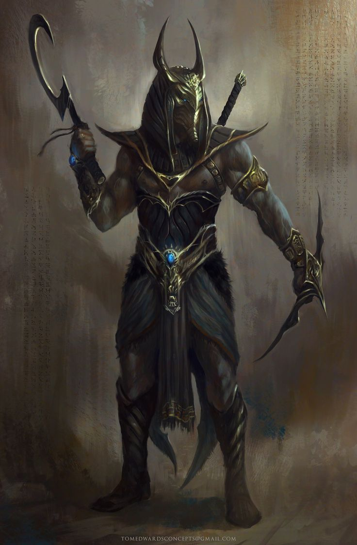 Anubis by TomEdwardsConcepts egyptian barbarian fighter gladiator | NOT OUR ART - Please click artwork for source | WRITING INSPIRATION for Dungeons and Dragons DND Pathfinder PFRPG Warhammer 40k Star Wars Shadowrun Call of Cthulhu and other d20 roleplaying fantasy science fiction sci-fi horror location equipment monster character game design | Create your own RPG Books w/ www.rpgbard.com: