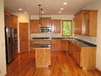 kitchen design with oak cabinets   home interior design