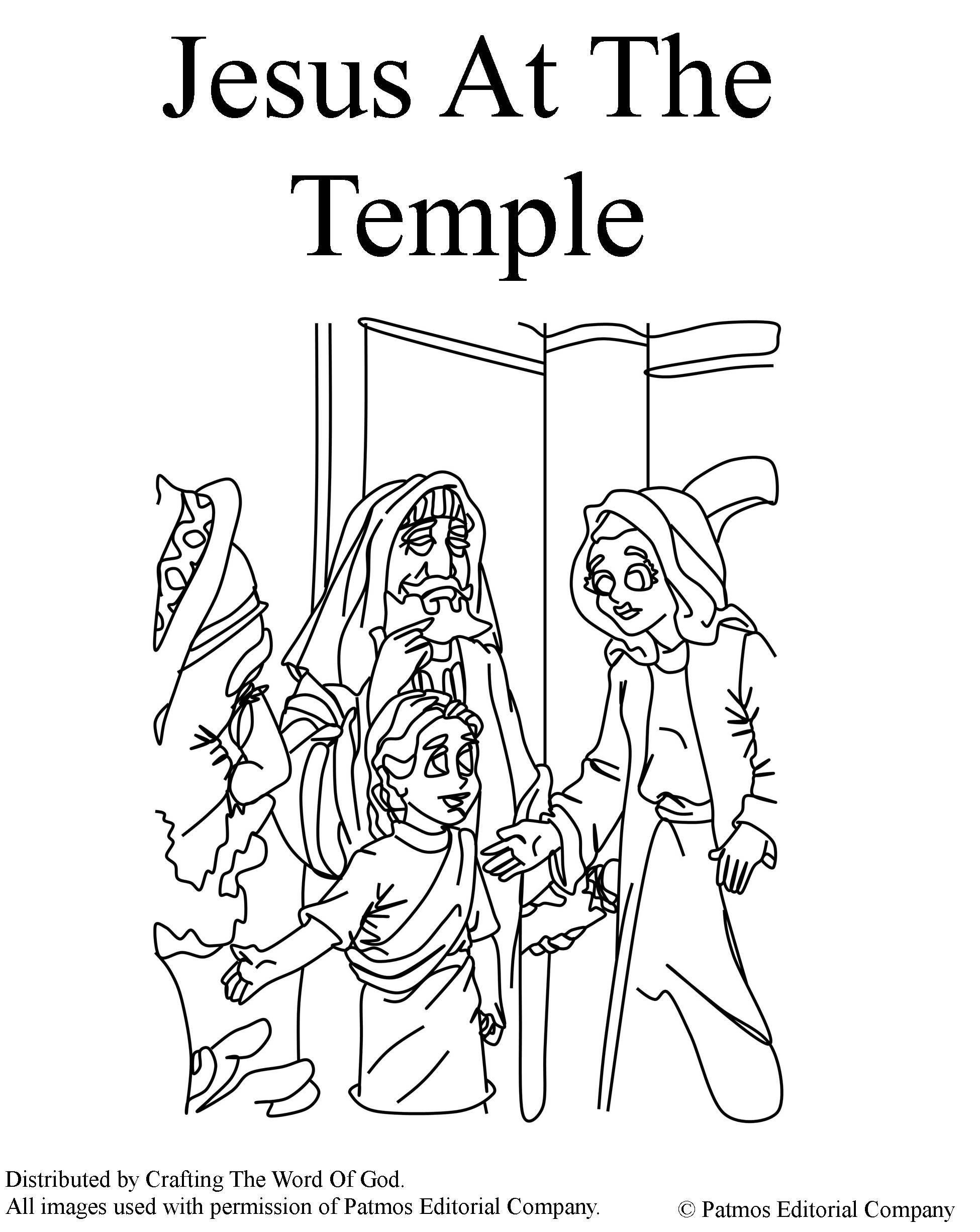 Jesus At The Temple Coloring Page Jesus Coloring Pages