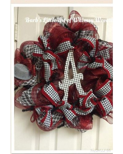 """Please help me by voting:) Just open photo and click """"like"""" thank you! https://www.craftoutlet.com/index.php/customerpicture/index/view/id/1687 Roll Tide Bama Wreath 