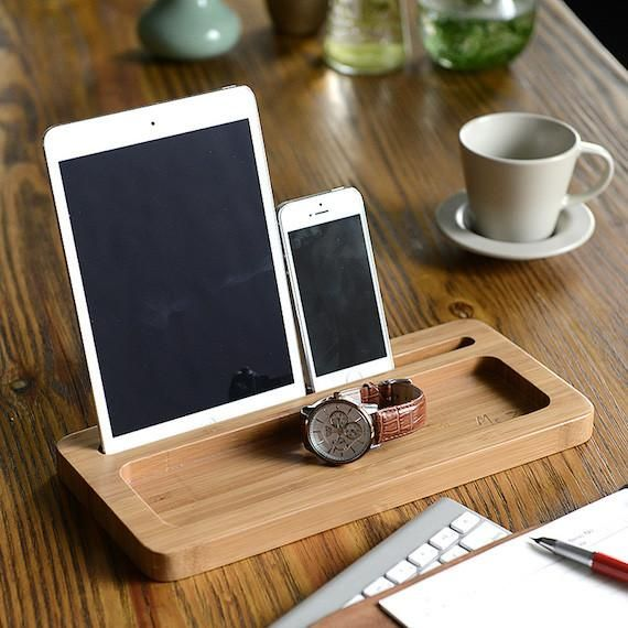 Wooden Ipad Stand With Extra Storage E Gadget Flow