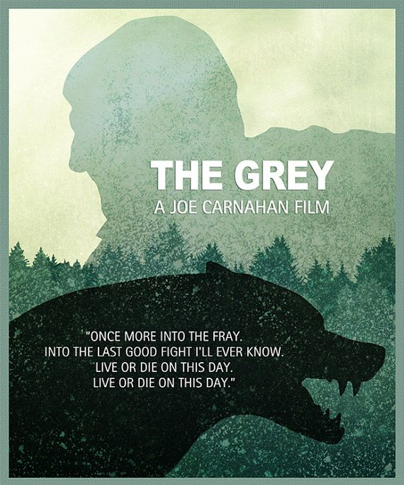 The Grey Minimalist Movie Poster Print The Grey Poster Home Decor