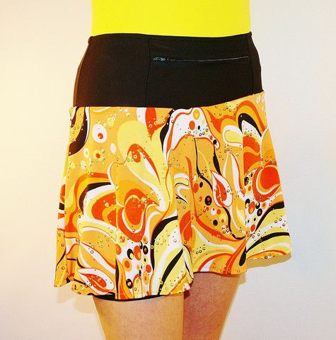 creamsicle swing style, black shorts and pockets