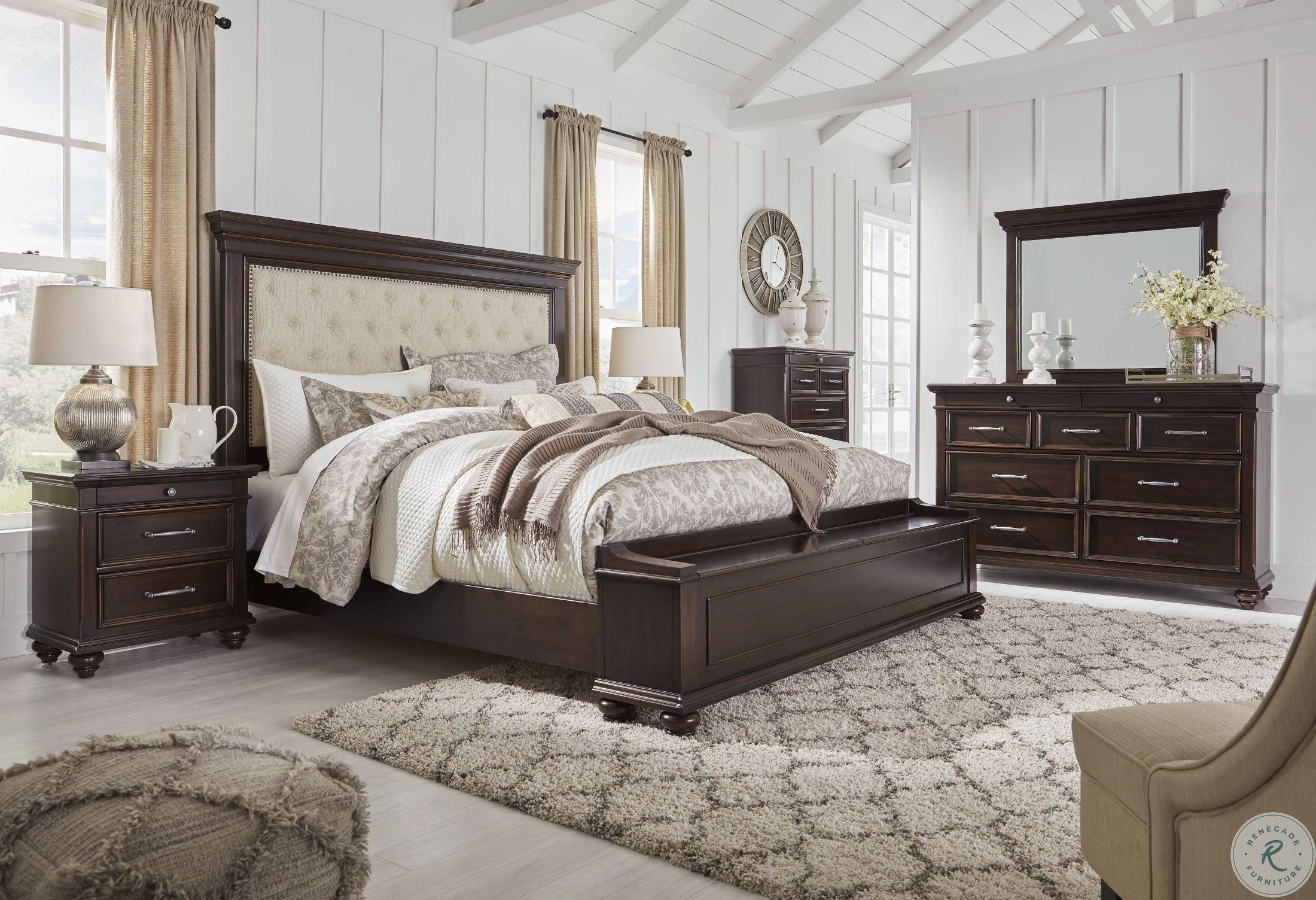 Brynhurst Dark Brown Upholstered Panel Bedroom Set In 2021 Queen Sized Bedroom Sets Bedroom Furniture Inspiration Bedroom Panel