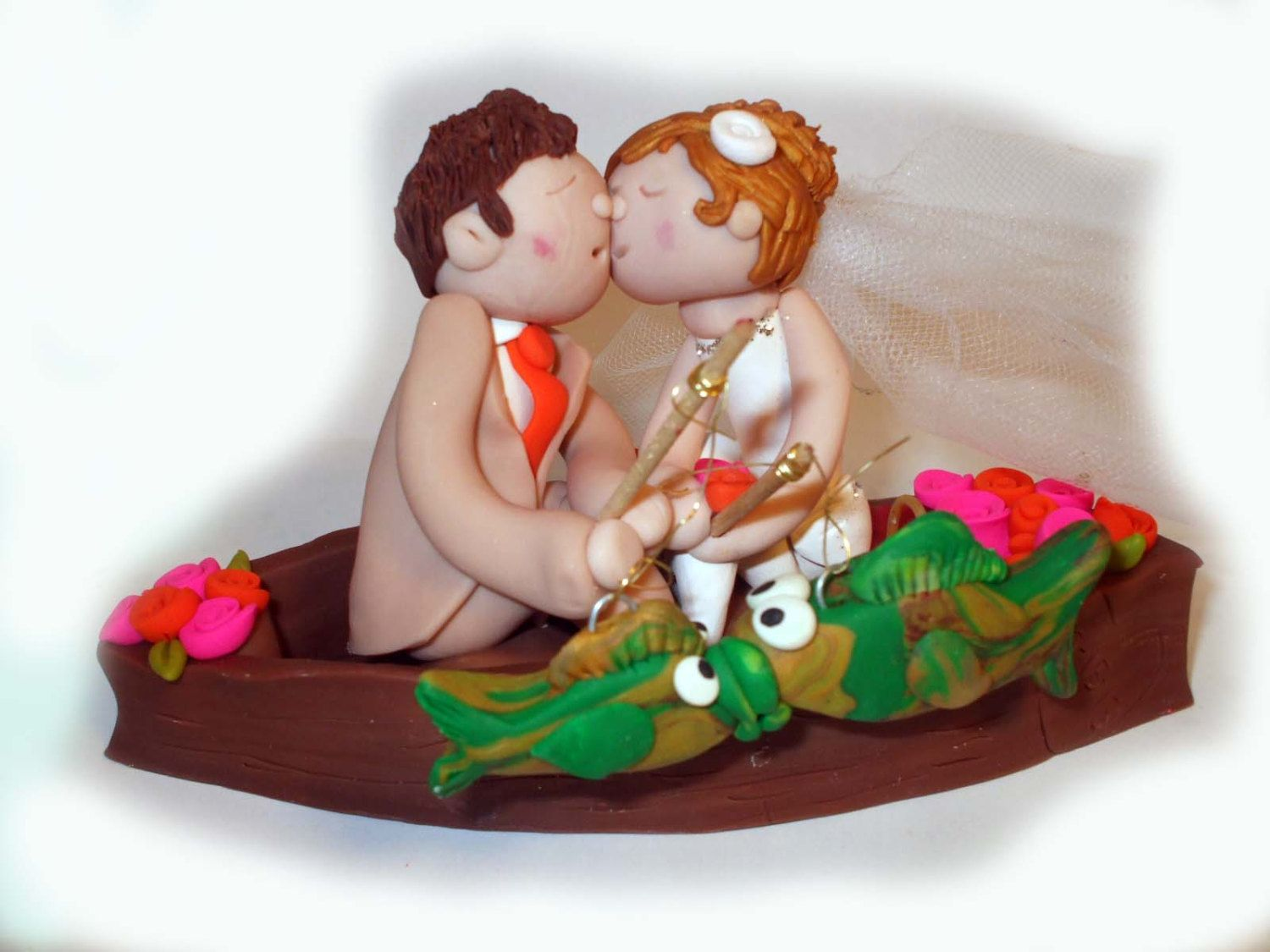 24++ Bride and groom fishing wedding cake topper ideas in 2021