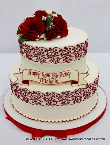 Happy Birthday Michelle Red Roses And White Make A Perfectly Classy