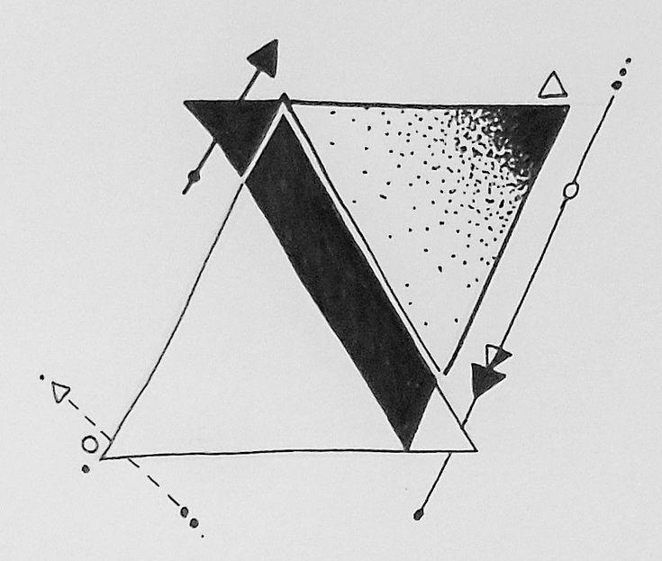 Geometric tattoos triangle  geometrisches tätowi  Geometric tattoos triangle  geometrisches tätowierungsdreieck  tri