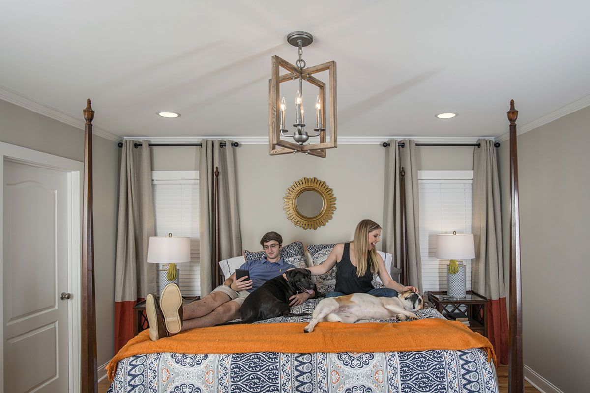 Virginia chose two spicewood pendants for the kitchen and a virginia chose two spicewood pendants for the kitchen and a turnbury chandelier for the master bedroom arubaitofo Gallery