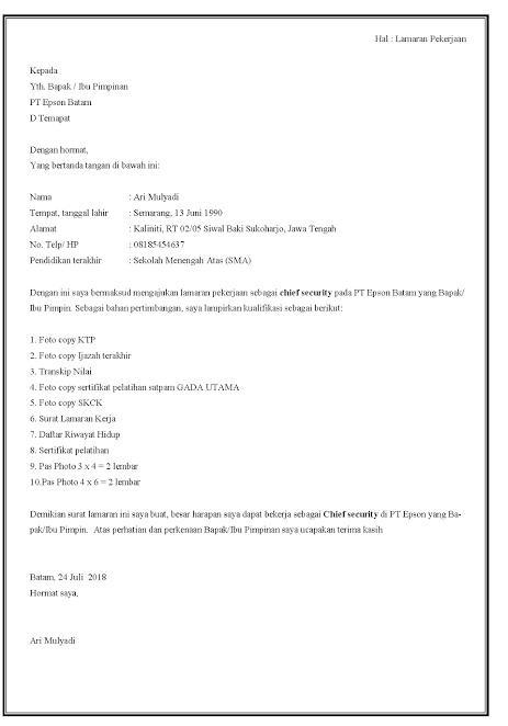Contoh Surat Lamaran Kerja Security : contoh, surat, lamaran, kerja, security, Contoh, Surat, Lamaran, Kerja, Satpam,, Security, Penjaga, Perumahan,, Hotel,, Kantor, Dan..., Pendidikan,, Surat,, Pimpinan