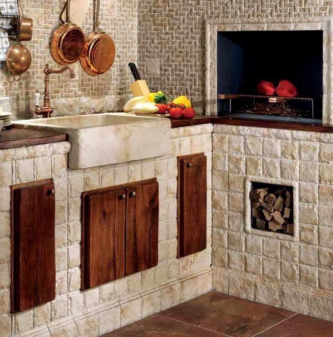 Cocina estilo italiano barbacoa pinterest estilo for Cocinas rusticas italianas