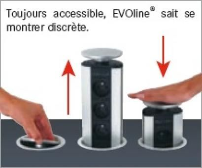 Prise escamotable inox prise escamotable prise plan de - Prise electrique encastrable cuisine ...