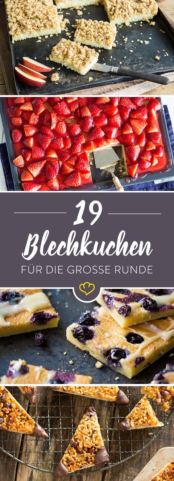 25 süße Blechkuchen für deine Kaffetafel - schnell & einfach