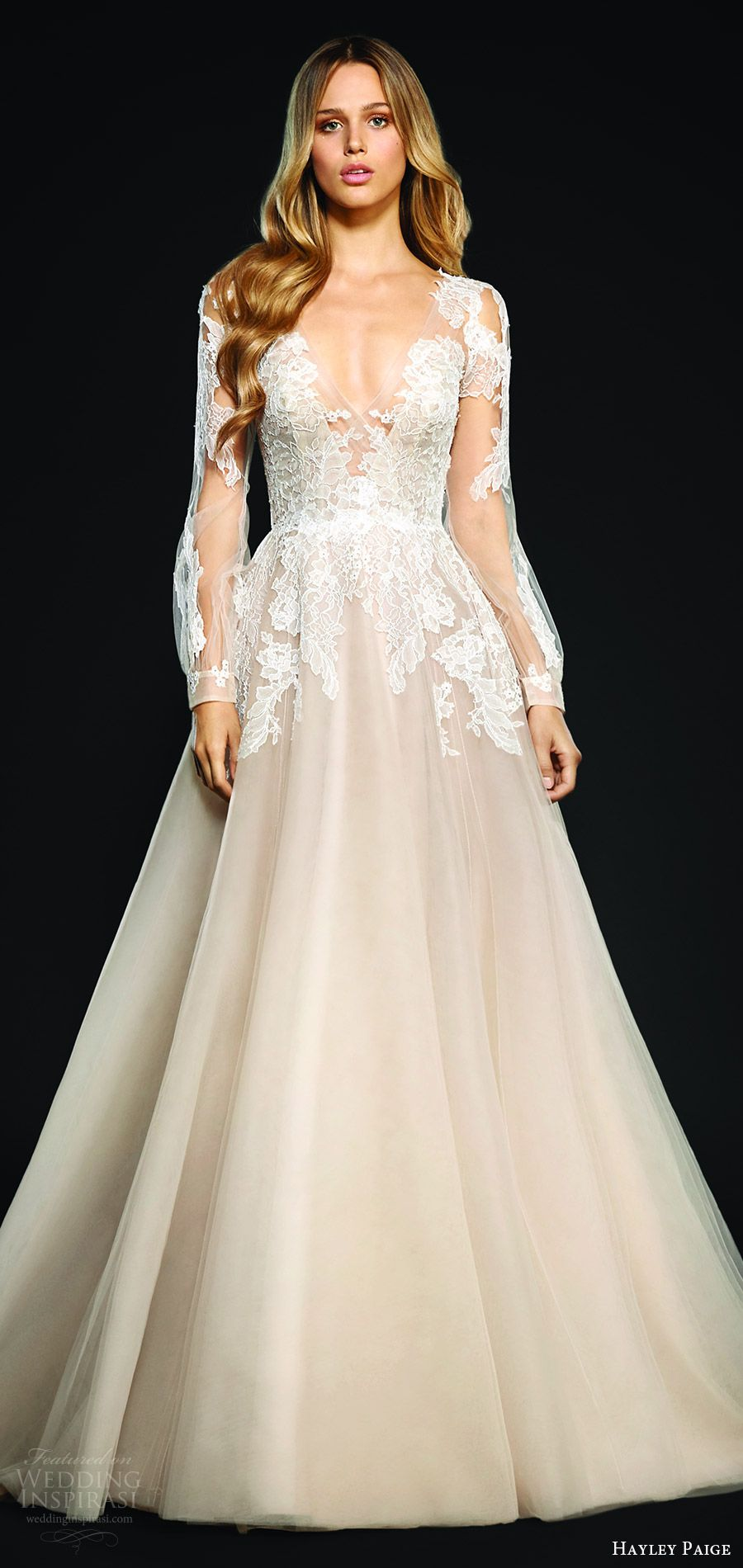 How much are hayley paige wedding dresses  Wedding Dress Trends  u Part  The Hottest in Backs Necklines