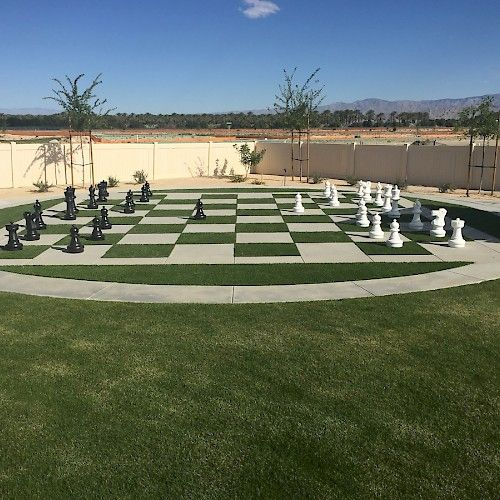 Artificial Turf Chess Set