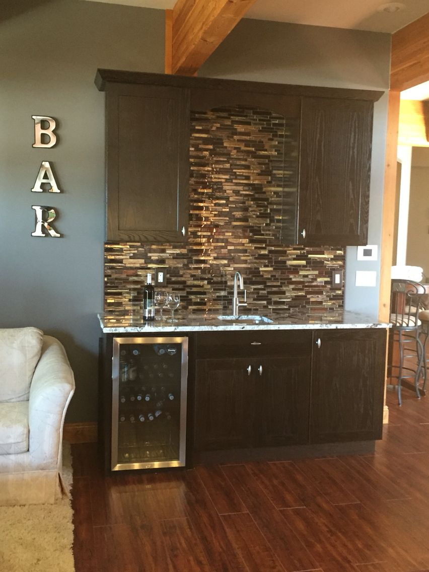 Our do it your self wet bar Home Theater Pinterest Wet bars