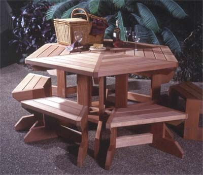 Stupendous Picnic Table Suite Woodworking Plan From Wood Magazine Unemploymentrelief Wooden Chair Designs For Living Room Unemploymentrelieforg