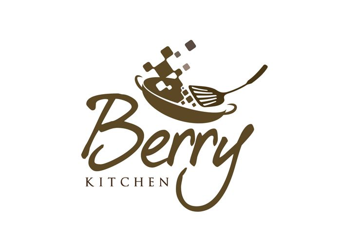 Logo Design Restaurant  Logo Berry Kitchen Online Catering  #0 Stunning Design Kitchens Online Design Ideas