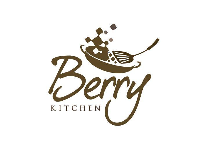 Kitchen Designer Logo logo design restaurant - logo berry kitchen (online catering) - #0