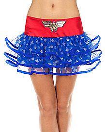 Wonder Woman Ribbon Tutu Skirt