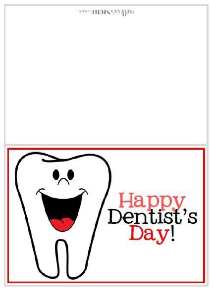 Dentist Day Free Printable Card Dentist Day Dentist Free Printable Cards