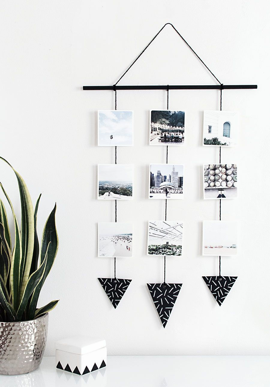 9 Stylish Diys To Turn Your Instas Into Art Diy Photo Wall