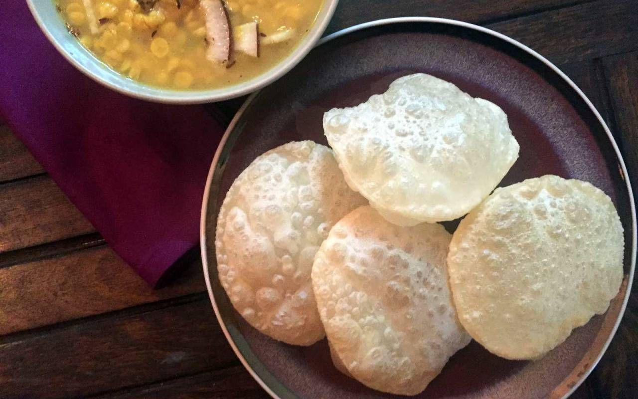 Bengali luchi recipe traditional bengali style fried puffed indian bengali luchi recipe traditional bengali style fried puffed indian bread forumfinder Image collections