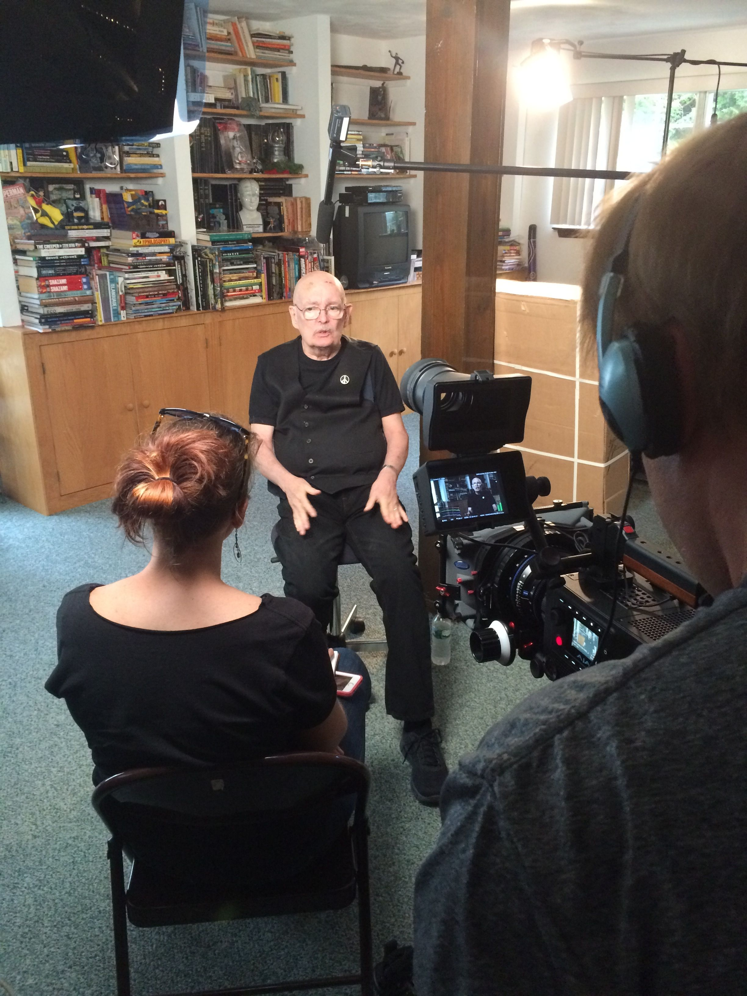 BTS from our Denny O'Neil interview for Charlton Comics: The Movie