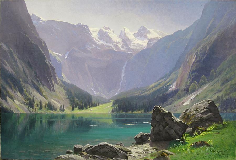 Mountain Lake In 2020 Landscape Paintings Landscape Art Mountain Paintings