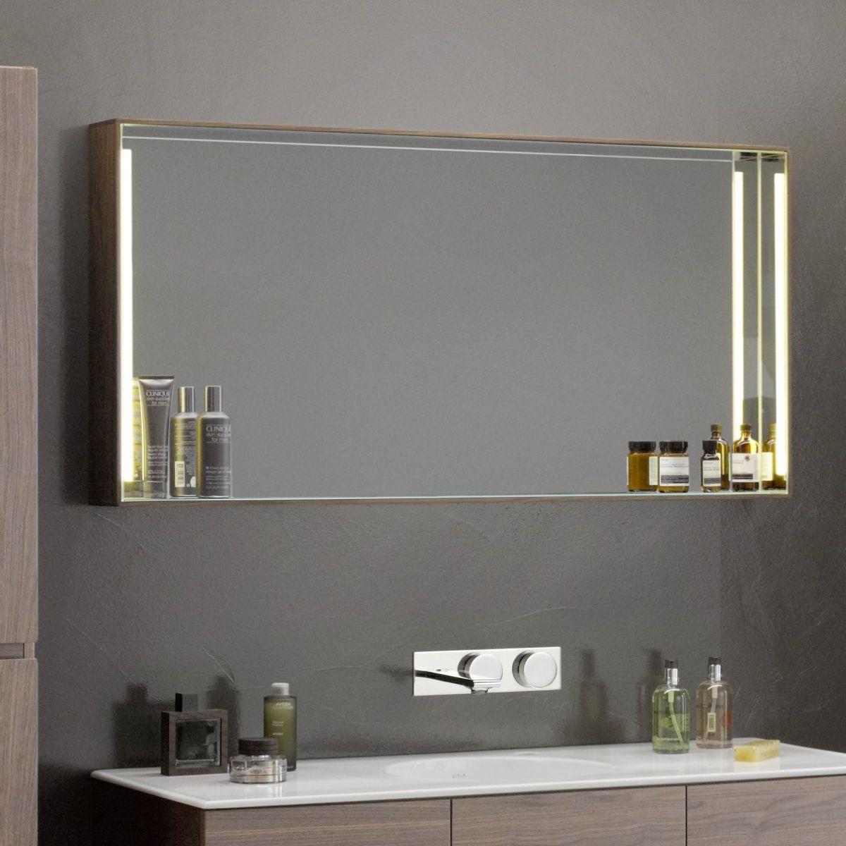 Vitra Memoria Illuminated Mirror With Shelf Bathroom Mirror With Shelf Mirror With Shelf Illuminated Mirrors