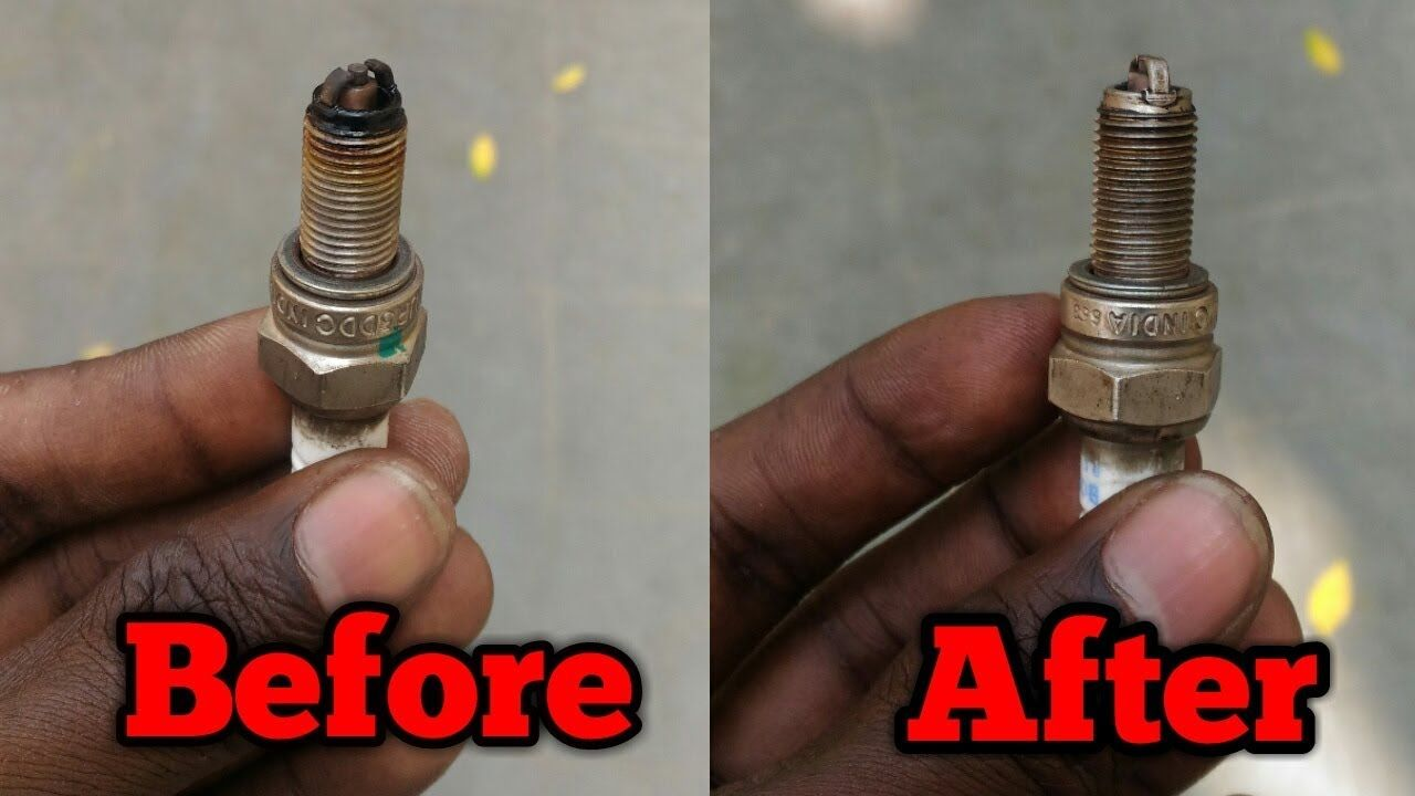 How To Clean Spark Plug Of Any Motorcycle Or Scooter The Best Way To Clean Spark Plug In Hindi Spark Plug Cleaning Plugs