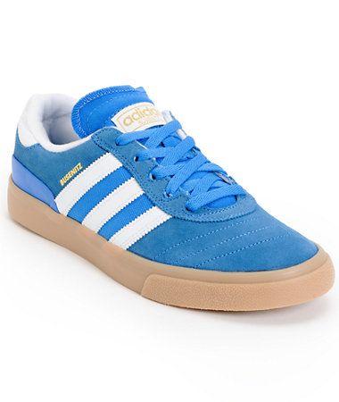 Adidas busenitz te bluebird, bianco & gum pattinare scarpa zumiez