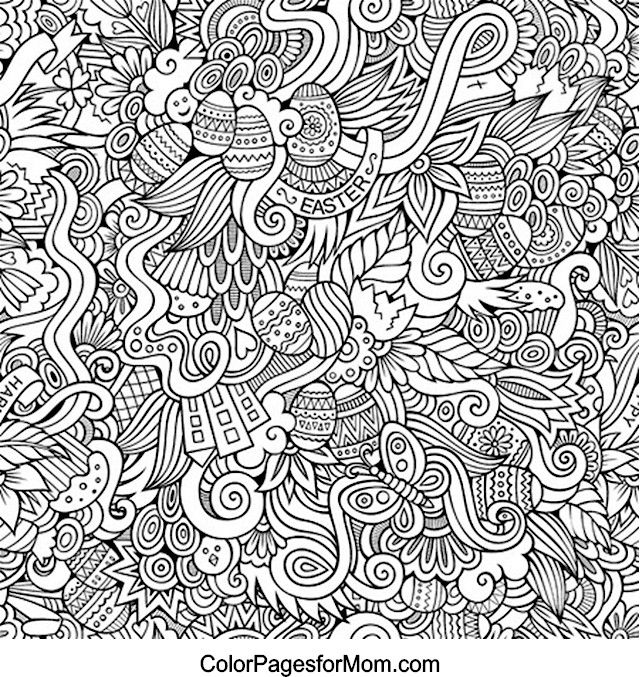 Doodles 16 Coloring Page Easter coloring pages, Coloring