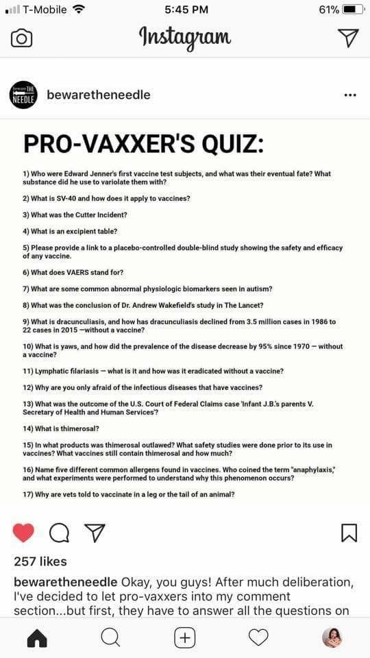 Pro vaxxers quiz The benefits DO NOT outweigh the safety risks - vaccine consent form