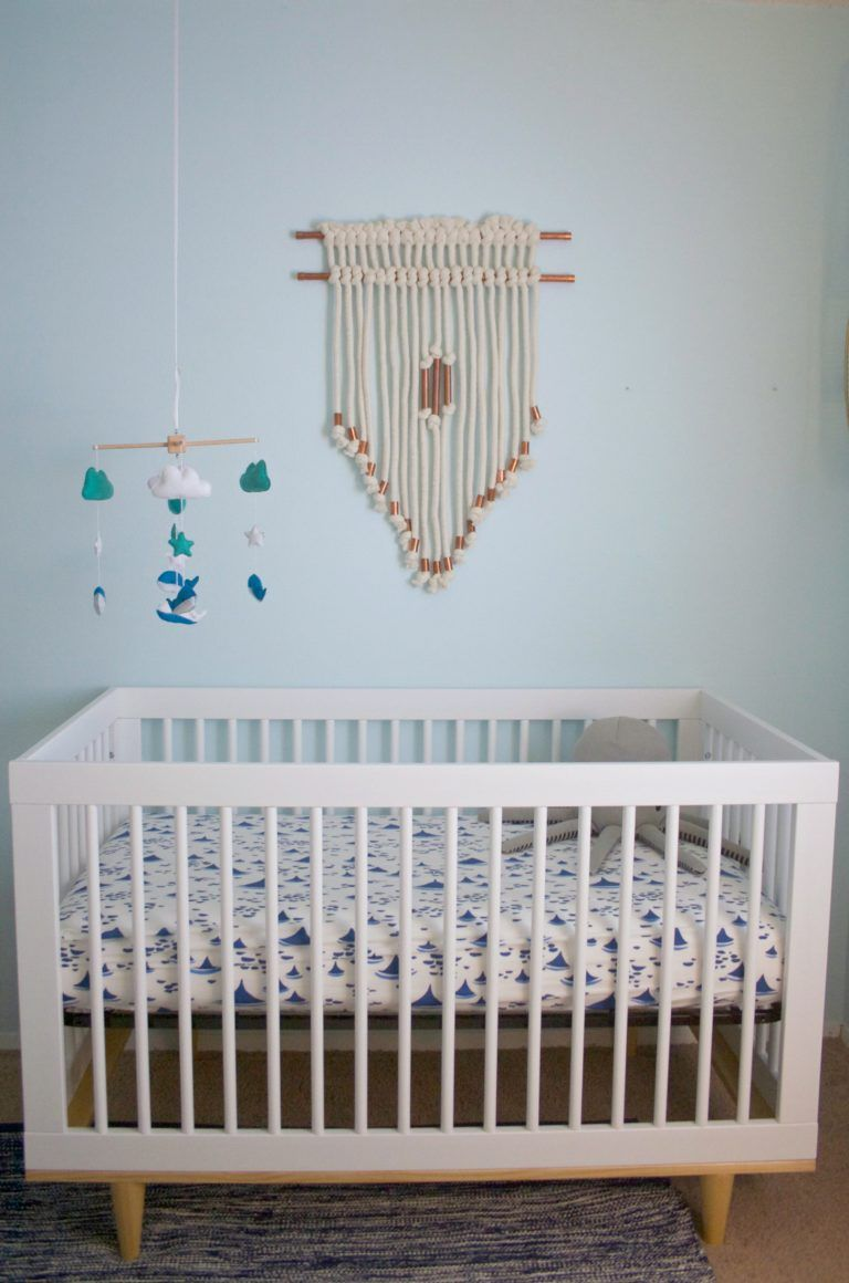 Macrame On The Wall Over The Crib   Seeing This More And More In The Nursery
