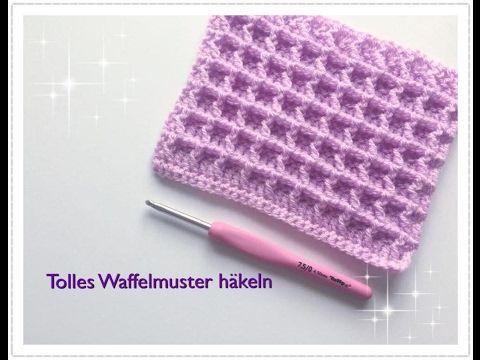 Einfaches Waffelmuster häkeln für Babydecken / Topflappen häkeln ...