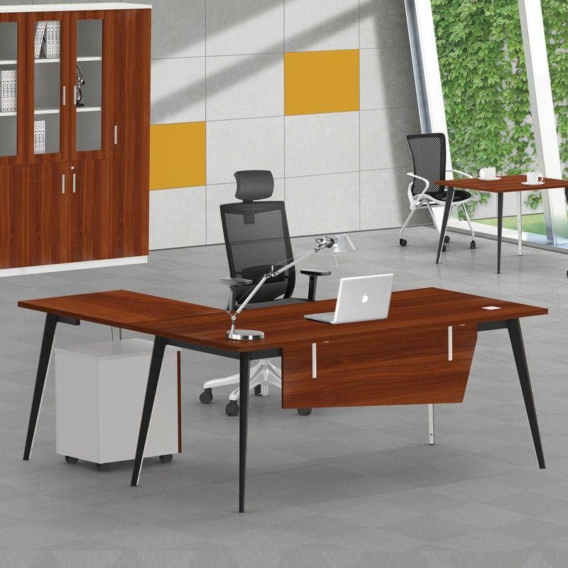 High evaluation simple design office desk melamine manager ...