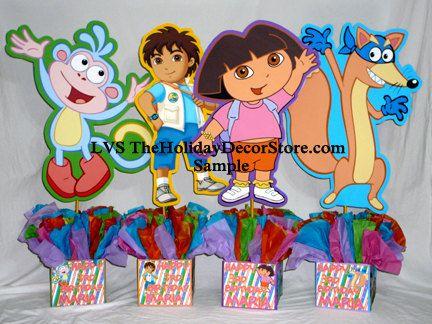 DIY small 12 Dora the Explorer Birthday Party Centerpieces baby