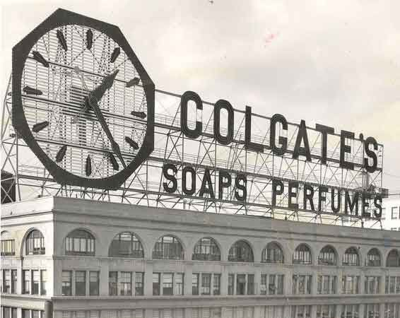 The Original Colgate Clock As It Appeared In Jersey City New