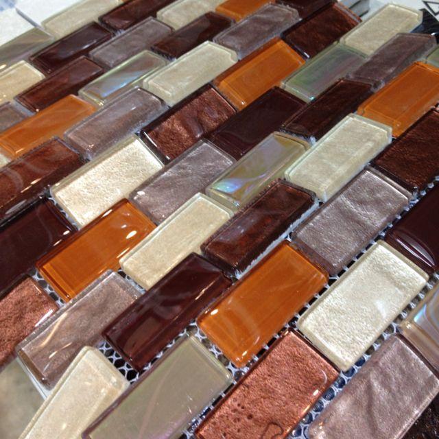 Sample Rustic Copper Linear Natural Slate Blend Mosaic: Kitchen Backsplash Search