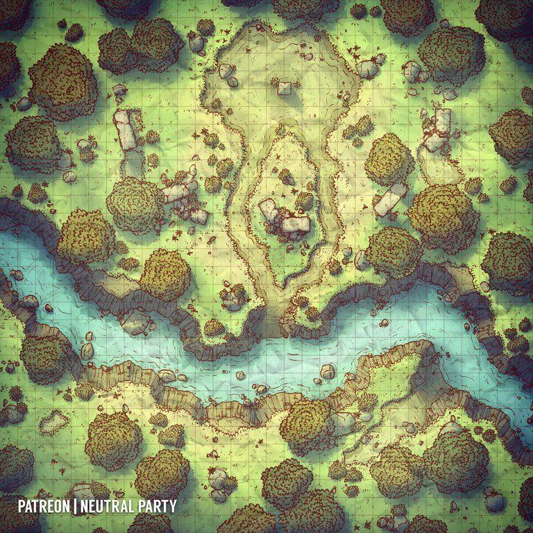 Ancient Altar battlemaps Dungeon maps, Forest map, Map