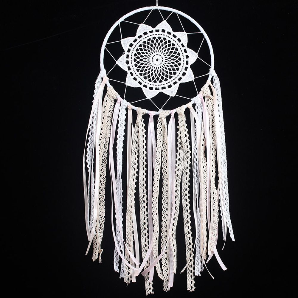 Dream Catcher Group Home Exclusive Design White Lace Dream Catcher Wind Chimes Indian Style 31