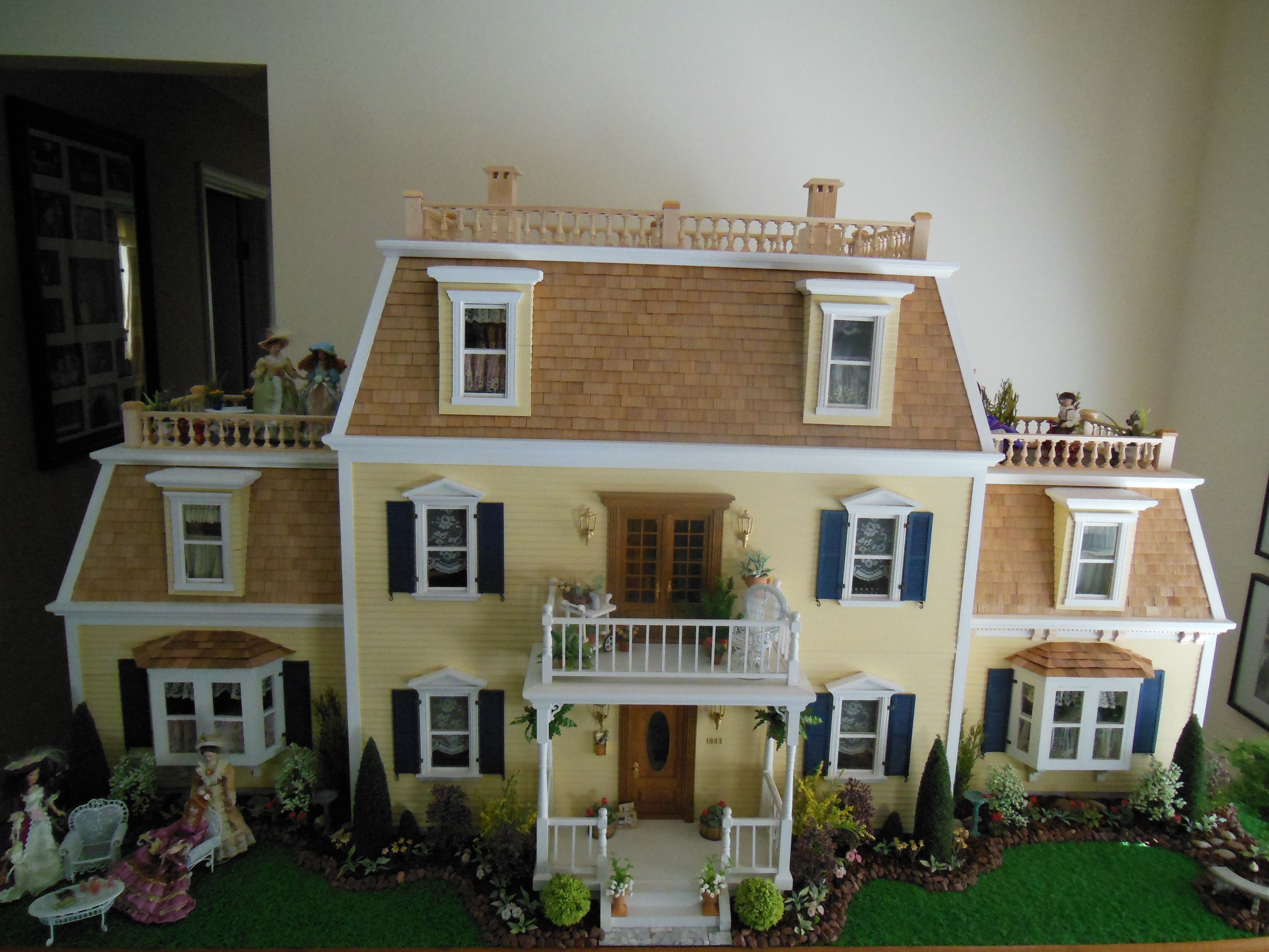 Hofco Federal Victorian Front View Dollhouses Artistic