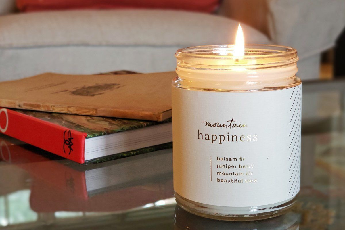 Handmade soy blend 3 wick happiness candle