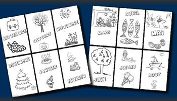Les mois de l'année pour le cahier de vie - Maternelle