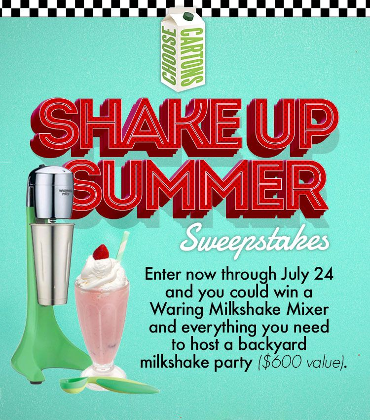 Choose Cartons Sweepstakes, Summer sweepstakes
