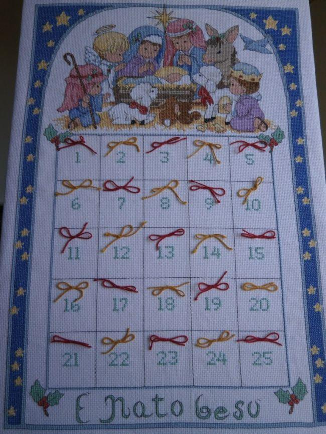 Calendario Dellavvento Punto Croce.Calendario Dell Avvento Dall Album Di Tatiana Calendario