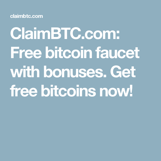 BITCOIN FAUCET   Claim BTC is a completely FREE bitcoin faucet ...