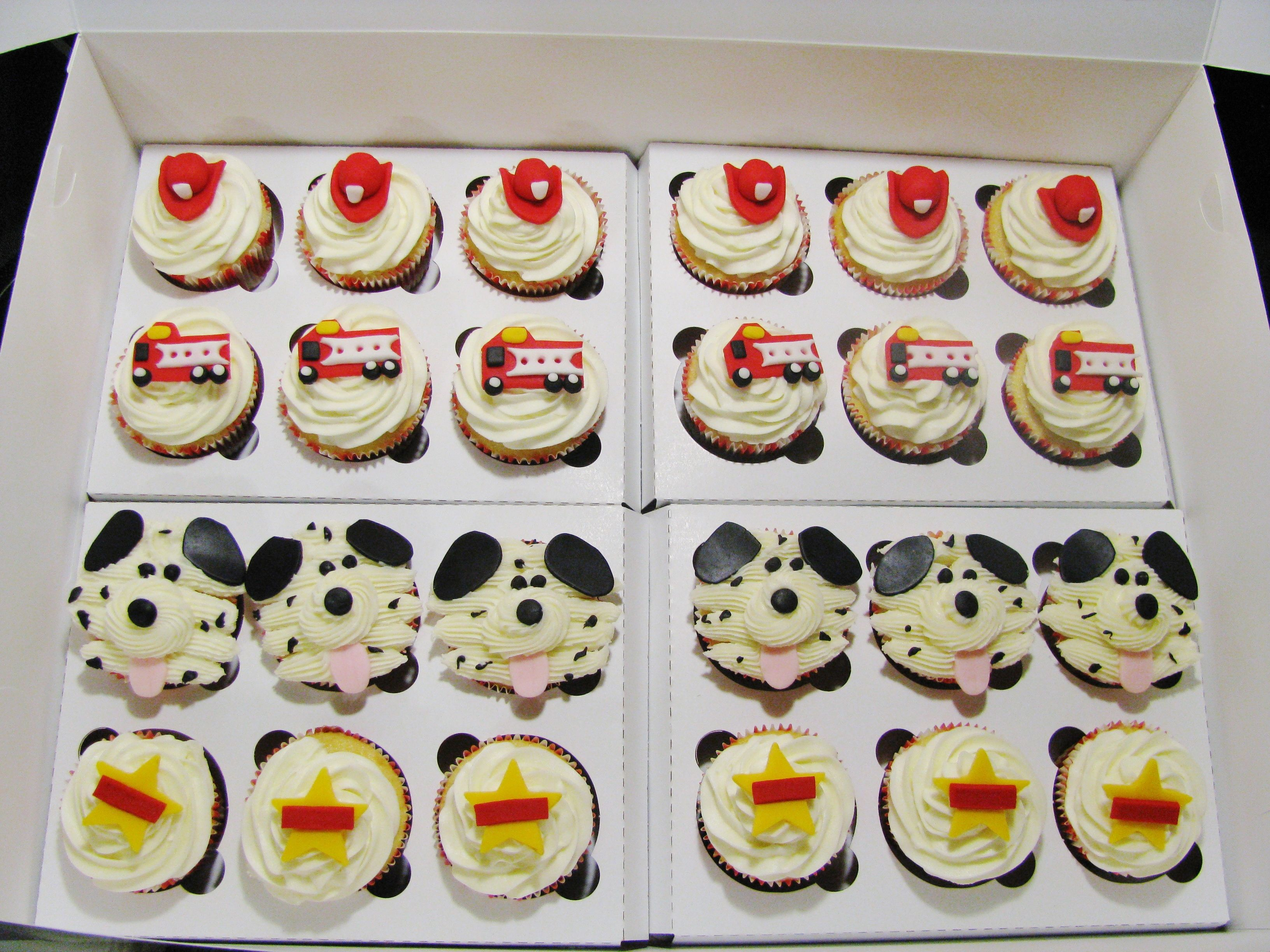 Fire truck cuppies!
